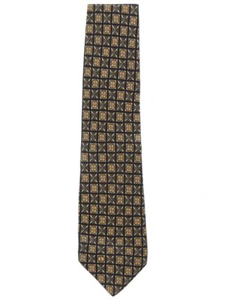 Valentino Garavani silk tie with a light brown and black design
