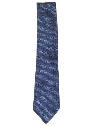 Ozwald Boateng blue and pink textured silk tie