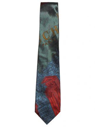 Moschino silk tie with scenes of Paris design