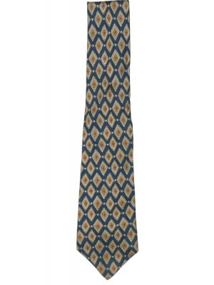 Pierre Balmain silk tie with blue and ochre design