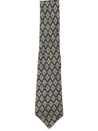 Pierre Balmain silk tie with blue and ochre design