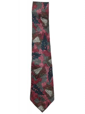 Pierre Cardin mauve and green design silk tie