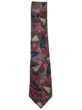 Pierre Cardin mauve and green design silk tie