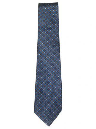 Harrods blue silk satin tie