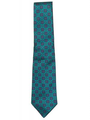 The Silk Company bright green, blue and red silk tie