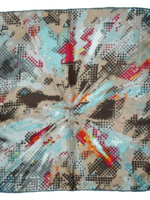 Fraas multi colour silk square