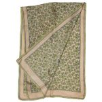 Long paisley design silk scarf