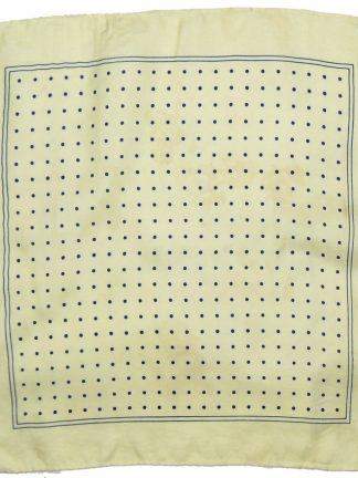 Polka dot silk square