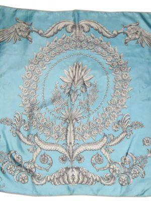 Curzon House Club silk scarf