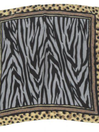Animal print small silk square