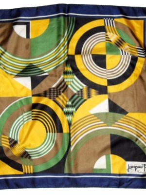 Vintge Jacque Fath silk scarf