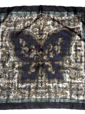 Butterfly print silk scarf
