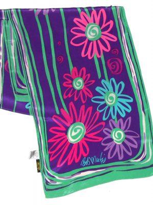 Bob MAckie Wearable Art long silk scarf