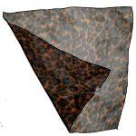 Small Chiffon Leopard Print Square