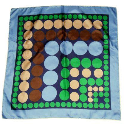 Spot design silk scarf