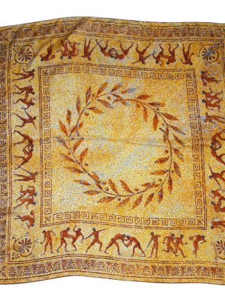 Hellenic Collection silk scarf with a design of ancient Olympic sports