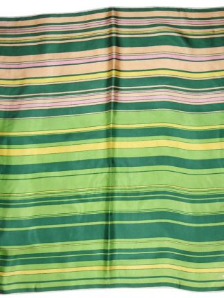 Jacqmar green and pink striped silk scarf