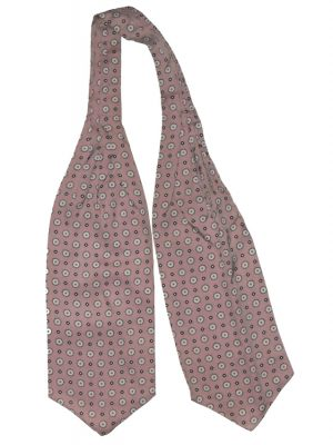 Tootal soft brown and white cravat