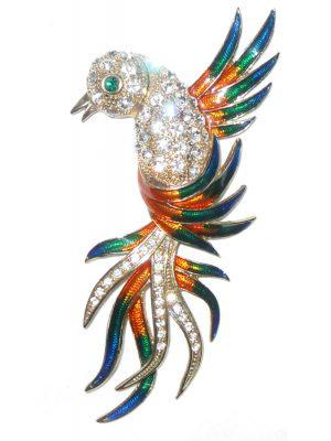 Bird of Paradise large brooch