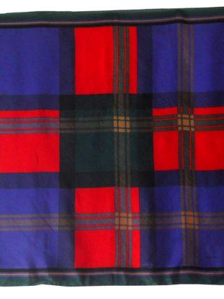 Sevini check and plaid silk scarf