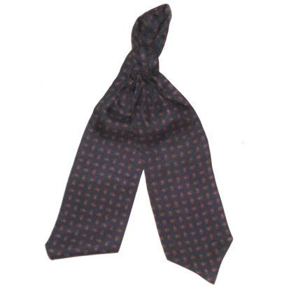 Dark blue paisley silk cravat