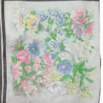 Fine cotton multi colour flower design scarf
