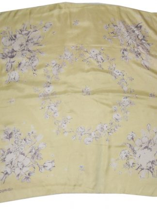 Jacqmar lemon flower design silk scarf