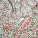 Richard Allan soft green and pink flower design silk scarf