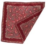 Paisley and flower design silk scarf