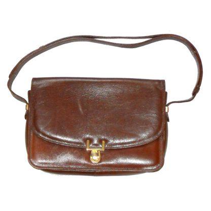 Harvey Nichols brown leather bag