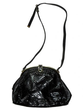 Jane Shilton black snakeskin and leather shoulder bag