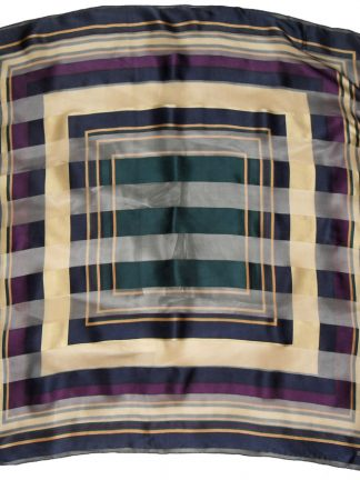 Bill Blass satin and sheer striped silk scarf