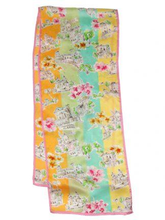 Talbots long silk satin scarf