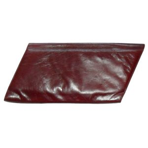 Charles Jourdan chestnut suede and leather clutch bag