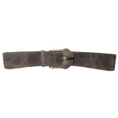 Brown suede belt