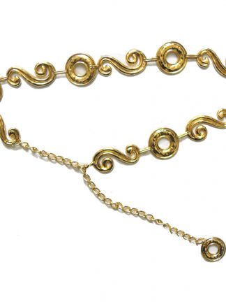 Gold tone metal chain belt