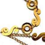 Gold tone metal chain belt