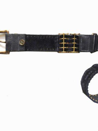 Leatherock blue leather studded belt