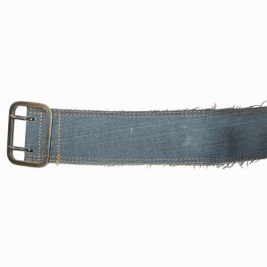 Levis denim, leather backed red tab belt