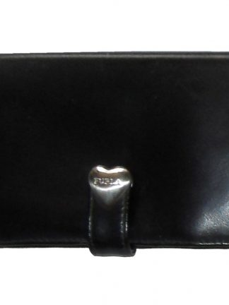 Furla black leather purse wallet