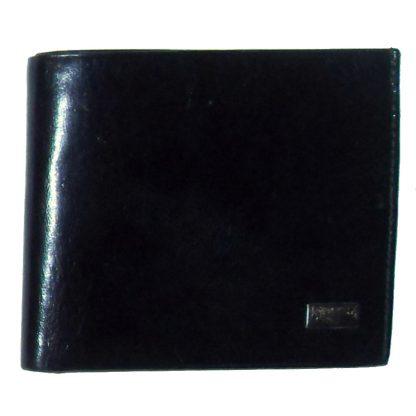 Ochnik black leather bifold wallet
