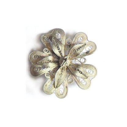 Filigree silver brooch
