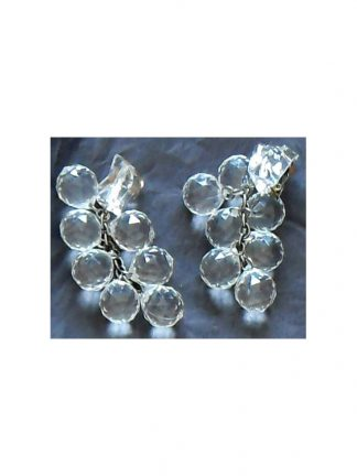 1960s Clear faceted plastic drop earrings