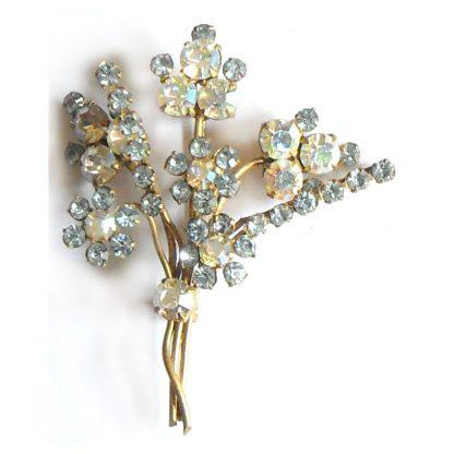 Aurora Borealis flower brooch