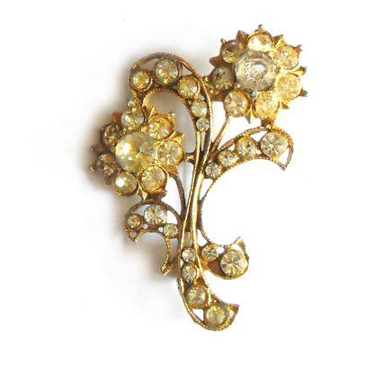 Vintage flower brooch