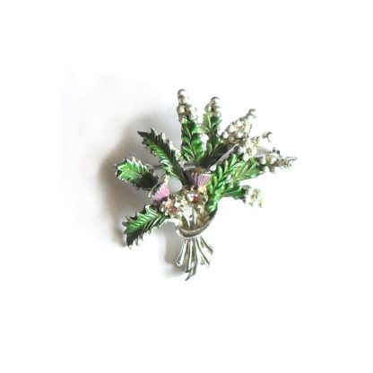 Heather and thistle brooch