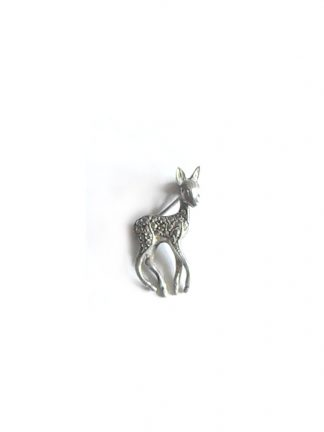 Marcasite fawn brooch