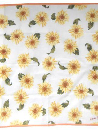 Atsuki Onishi yellow flower design cotton square