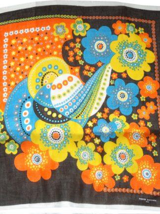 Pierre Baccara Paris bright design wool scarf
