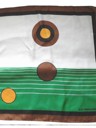 Elio Berhanyer abstract design silk scarf